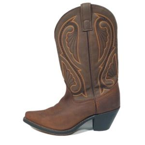 Laredo Leather Embroidered Western Cowgirl Boots 7